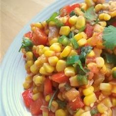 Mexican Corn Salad | Think of what would happen if salsa became salad. Yes, it's really good.