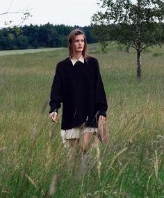 visual optimism; fashion editorials, shows, campaigns & more!: sweet naiveté: louise lefebure by johan sandberg for elle sweden august 2015