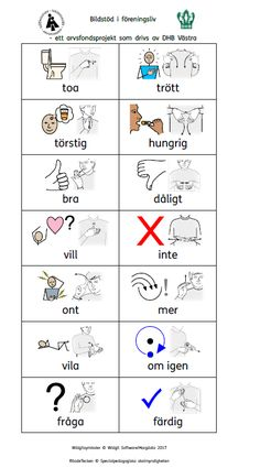 Bildstöd, pdf dokument, programfiler, videoklipp – Bildstöd vid föreningsaktiviteter Sign Language Book, Sign Language Phrases, Learn Swedish Online, Swedish Quotes, Swedish Language, Writing Words, Fine Motor Skills, Activities For Kids, Kindergarten