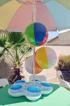 Beach Ball themed birthday party via Kara's Party Ideas KarasPartyIdeas.com Cake, decor, supplies, cupcakes, banners, tutorials and more! #beachballparty #beachball (19)