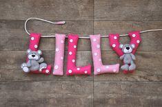 felt name banner nursery decor personalized gift felt letters