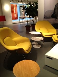 Knoll Felt Upholstery in yellow