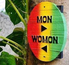 Jamaican Bathroom Sign
