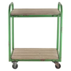 Showcasing a convenient castered design and rustic green frame, this eye-catching side table is perfect addition to your craft room or den. ...