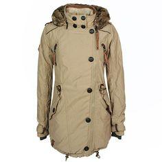 Naketano Damen Winterjacke / Form: Sissimuschi IV / Farbe: beige - FarbNr.: 004 / im Naketano Online Shop