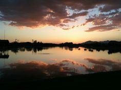 Reflections at Dusk (I took this in Maricopa, Arizona at Pacana Park using a Canon t3i) photo by Lynn Galloway