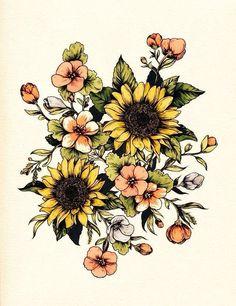 Tattoo Vintage Floral Various by TattooNbeyond - Flower Tattoo Designs Body Art Tattoos, New Tattoos, Cool Tattoos, Tatoos, Small Tattoos, Wildflowers Tattoo, Tattoo Fleur, 16 Tattoo, Tattoo Forearm