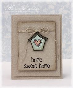 Lawn Fawn - Home Sweet Home _ love this distressed vintage look by Karin! Lawnscaping Challenge: Challenge #64