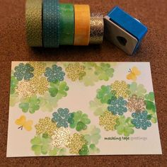 Masking Tape, Washi Tape, Art N Craft, Pocket Letters, Diy Crafts To Sell, Diy Cards, Gift Wrapping, Lettering, Wedding