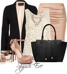 A fashion look from April 2013 featuring Vila Milano tops, River Island blazers i Paule Ka skirts. Browse and shop related looks. Classy Outfits, Chic Outfits, Fashion Outfits, Womens Fashion, Outfits 2014, Work Outfits, Office Fashion, Work Fashion, College Fashion