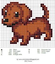Brown dachshund pattern
