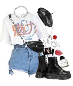 Discover outfit ideas for made with the shoplook outfit maker. How to wear ideas for Lollipop and Black Platform Doc Martens Cute Casual Outfits, Edgy Outfits, Mode Outfits, Retro Outfits, Korean Outfits, Grunge Outfits, Summer Outfits, Aesthetic Fashion, Aesthetic Clothes