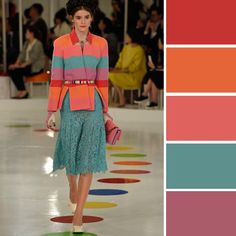 How to match different colors? Here we collect nice examples of color combinations to help you look gorgeous!
