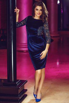 Comanda online, Rochie StarShinerS Theo Rose Perfection DarkBlue. Articole masurate, calitate garantata!