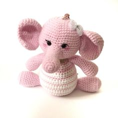Music Box Musical Plush Amigurumi Pink Elephant Plush Crochet Elephant Stuffed Toy Nursery Decor Valentine's Day Gift Baby Shower Gift Ideas by AmiAmiGocco on Etsy