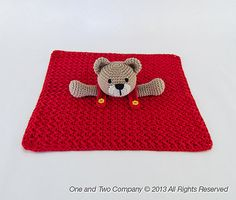 Ravelry: Teddy Bear Lovey Security Blanket pattern by Carolina Guzman