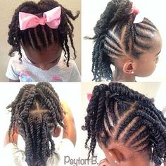 little black girl braided updo - Google Search