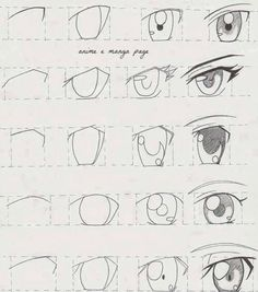 Dessiner un oeil de manga