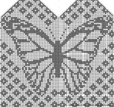 Bilderesultat for owl mitten pattern chart Filet Crochet, Crochet Chart, Knit Crochet, Crochet Granny, Knitting Charts, Knitting Stitches, Knitting Patterns Free, Crochet Patterns, Knitting Tutorials