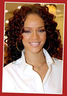 Image detail for -Rihanna - Curly Hair Styles for Long Hair