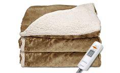 Save on Sunbeam Reversible Sherpa/Mink Heated Throw Heated Throw Blanket, Good Housekeeping, Door Stop, Electric, Mink, Blankets, Warm, Dining Rooms, Closets