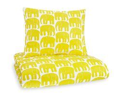 Finlayson Elefantti pussilakana ja tyynyliina, keltainen