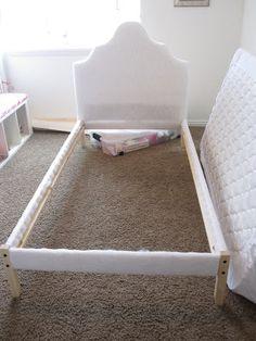 IKEA HACK - DIY Upholstered Headboard | Beds, Diy upholstered ...
