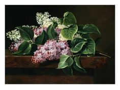 Lilac on a Ledge Giclee Print by Johan Laurentz Jensen at Art.com