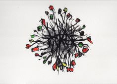 Christmas footprint - Original drawing $250