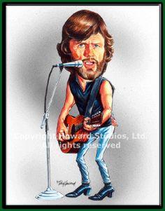 Kris Kristofferson Caricature by Don Howard