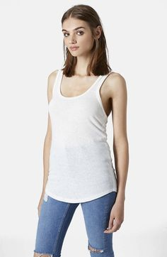 Topshop Burnout Jersey Racerback Tank available at #Nordstrom