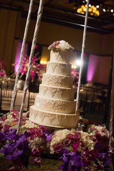 Hanging display - Fabulous Wedding Cake Table Ideas Using Flowers | Frank Carnaggio Photography