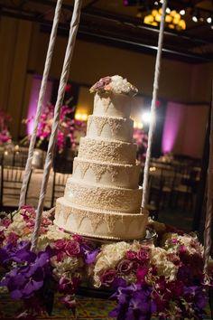 Hanging display - Fabulous Wedding Cake Table Ideas Using Flowers | Frank Carnaggio Photography