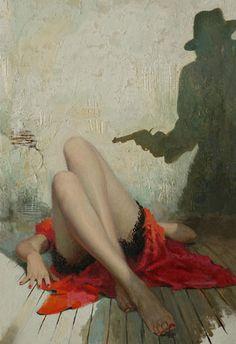 "Robert Maguire ""Flight Into Terror"" Vintage Pulp Art Illustration | Female-Centric Pulp Art | Sugary.Sweet | #Pulp #Art #Illustration"