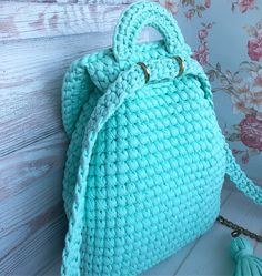 Shopper with leather bottom bag crochet – Artofit Crochet Backpack, Backpack Pattern, Backpack Tutorial, Crochet Handbags, Crochet Purses, Crochet Designs, Crochet Patterns, Crochet Baby, Knit Crochet
