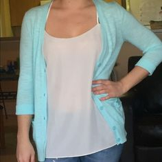 Banana Republic light blue cardigan Banana Republic light blue cardigan with pockets. Really comfy me perfect for spring and summer! Banana Republic Sweaters Cardigans