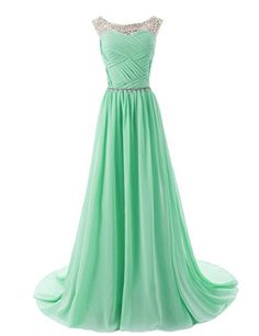 Beaded Sleeveless Bridesmaid Dresses Prom Gown with Beads Embellished Waist
