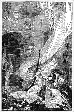 Sunk Lyonesse - Down-Adown-Derry; A book of Fairy Poems by Walter De La Mare; published by Constable & Co, 1922