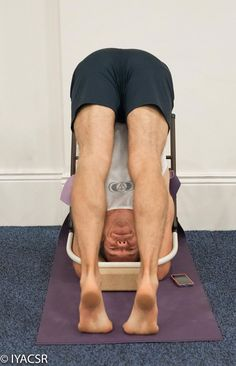53 best iyengar yoga chair inversions images  iyengar