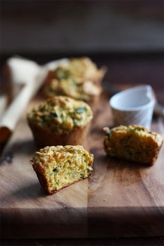 When I started writing this post, I mulled and mulled over what I would call these muffins. Healthy Muffins? Green Muffins? Veggie…