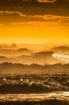 Golden Hour Surf by Michael Busch