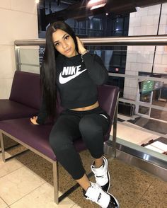 Tomboy Outfits, Chill Outfits, Swag Outfits, Nike Outfits, Dope Fashion, Teen Fashion, Fashion Outfits, Jordan Outfits, Swagg