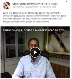 Daniel Corrêa: Li muitos comentários antes,de que esse dia iria e...