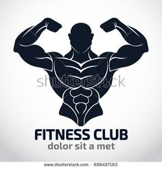 Bodybuilder Logo Template,Vector object and Icons for Sport Label, Gym Badge, Fitness Logo Design, Emblem Graphics. Vector Logo Design, Logo Design Template, Graphic Design Typography, Logo Templates, Fitness Brand, Fitness Logo, Dojo, Bodybuilding Logo, Gym Badges