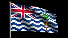 The national flag of the British Indian Ocean Territory is just like the flags of other British colonies and dependencies as it consists of the Union Flag at the higher hoist-side. British Indian Ocean Territory, Union Flags, National Flag, Symbols, Icons, Glyphs
