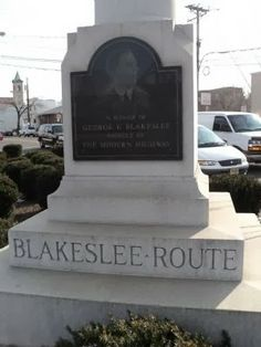 Hidden New Jersey - saluting a pioneer in the Good Roads Movement, in Jersey City.