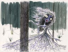 Tim Burton original concept art from the Corpse Bride