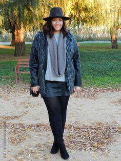 Plus Size Fashion - VÍSTETE QUE VIENEN CURVAS: Outfit Fur Vest: lo que no mata engorda