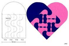 corazones ensamblados - liru_origami - Picasa Webalbums