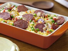 Rice Pilaf with Chorizo Casserole Recipe : Rachael Ray : Food Network - FoodNetwork.com